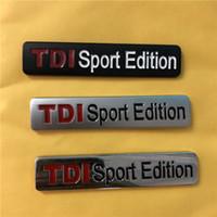 emblème tdi achat en gros de-Haute qualité en gros 3D métal TDI Sport Edition autocollants emblèmes emblèmes autocollants pour VW POLO GOLF 6 7 sports emblème metel autocollants
