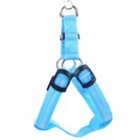 led dog collar venda por atacado-Nylon LED Dog Harness Cat Pet Dog Collar Arnês Colete de Alta Qualidade de Segurança Que Acendem o Harness Dog Pequeno / Grande / Grande Atacado