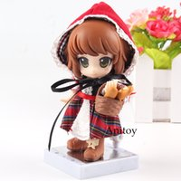 Wholesale hood figure resale online - Kotobukiya Cu poche Friends Little Red Riding Hood with Real Fabric Clothes PVC Fairy Tale Anime Action Figure Toys for Children