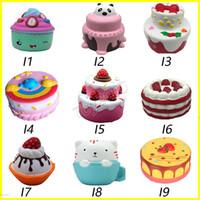 Wholesale rose children - Squishy cakes peach rabbit fox squishies Slow Rising 10cm 11cm 12cm 15cm Soft Squeeze Cute Cell Phone Strap gift Stress children toys