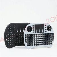 fs remoto venda por atacado-Teclado sem fio rii i8 teclados Fly Air Mouse Multi-Media Touchpad de controle remoto portátil para TV BOX Android Mini PC B-FS