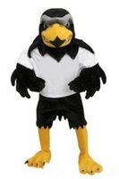 Wholesale Deluxe Mascot - 2018 High quality Deluxe Plush Falcon Mascot Costume Adult Size Eagle Mascotte Mascota Carnival Party Cosply Costum free shipping