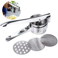 Wholesale kitchen baby resale online - Stainless Steel Potato Masher Ricer Puree Fruit Vegetable Juicer Press Baby Food Maker Kitchen Vegetable Tools AAA700