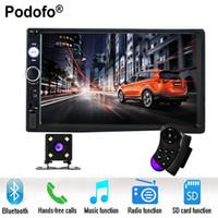 "mp3 tuners 2018 - Podofo 2 din car radio 7"" HD Player MP5 Touch Screen Digital Display Bluetooth USB SD Multimedia 2din Autoradio Rear View Camera"