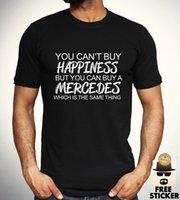 auto-marken-t-shirts großhandel-Mercedes Benz Funny T-Shirt Auto Sport Racing Tee Herren Bekleidung Geschenk Top S - XXL 2018 Neue Marke Mens T Shirt Baumwolle Kurzarm drucken