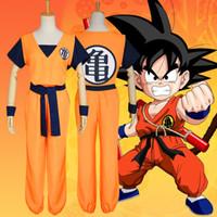 traje de dragão amarelo venda por atacado-Tamanho asiático Japão Anime Mestre Roshi Dragon Ball Amarelo Goku Halloween Cosplay Unisex Dos Desenhos Animados de Manga Curta Trajes Uniformes