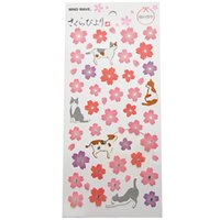 Wholesale korean diary stickers - Beautiful Sakura Stationery Diary Stickers Decorative Mobile Stickers Scrapbooking DIY PVC Stickers Children Loved Baby Room Decoration
