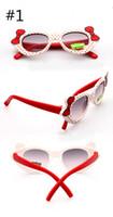 gözlük için bop toptan satış-Sevimli çok Renkli yay Tarzı Karikatür Dekor Çocuk Güneş Gözlüğü trendy çocuk gözlük