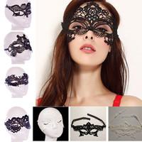 halloween medio cara encaje al por mayor-Moda Sexy Lace Party Máscaras Mujeres Señoras Niñas Halloween Xmas Cosplay Disfraz Máscaras Dancing Valentine Half Face Máscara WX-M03