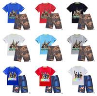 boys purple t shirt 2018 - Kids Clothing Summer T-shirt Shorts 2pcs Suit Short Shirt Casual Boys Tops Baby Set Kids Baby Boys Boutique Clothes Set DHL Free Shipping