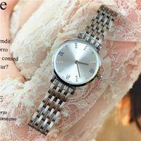 Wholesale locking battery box - New Model Fashion Style Women Watch Lady Shine Diamond wristwatch Steel Bracelet Chain Luxury Pink Color High Quality folding lock Free box