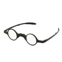 vaka okuyucu toptan satış-Katlanır Retro Yuvarlak Şekil Okuma Gözlükleri ile Kılıf Katlanabilir Presbiyopi Hipermetrop Geek Cep Okuyucu + 1.0 + +3.5