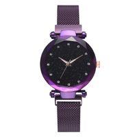 marcas de relógios modernas venda por atacado-Marca moderna Mulheres Relógio De Luxo Designer De Malha De Aço Inoxidável Relógios Senhoras Céu Estrelado Relógio de Pulso De Quartzo Presentes
