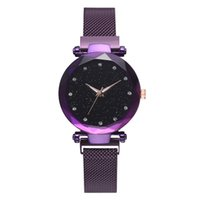 modern saat markaları toptan satış-Modern Marka Kadınlar Lüks İzle Paslanmaz Çelik Hasır Tasarımcı Saatler Bayanlar Yıldızlı Gökyüzü Kuvars Saatı Saat Hediyeler