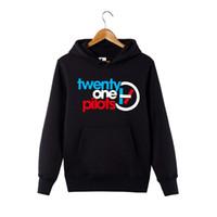ingrosso ventuno piloti-Twenty One Pilots Felpa con cappuccio per uomo / donna Double Line Logo Hoodie Pullover Band Twenty One Pilots Sweatershirt con cappuccio