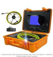cámaras de video alcantarillado al por mayor-Sistema de inspección video industrial del tubo con el monitor LCD 7inch / la función del USB DVR Cámaras de la alcantarilla / dren