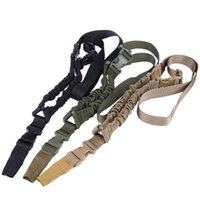 Wholesale nylon gun sling for sale - 90cm Nylon Single Point Multi function Adjustable Bungee Rifle Gun Sling Hunting Shooting Strap System for Outdoor Survival
