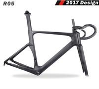 Wholesale black complete bike for sale - Group buy 2018 Latest FM005 T700 carbon fiber frame complete road bike frame Aero road racing carbon fiber frame