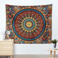 wolldecke stoff großhandel-Home Textile Decke Mandala pastoralen Stil farbigen karierten Decken Haushalt Schlafzimmer liefert Dekorationen