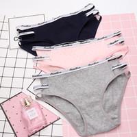 2aae643655d1 Diseño moderno de algodón escritos sin costura tanga estilo simple Sexy ropa  interior suave de la ropa interior de las mujeres Lindas bragas rosadas  sexo de ...