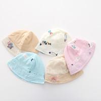 ingrosso cappelli della visiera della bambina-Cappello da visiera per bebè Cappello da sole per bimbi Cappellino da neonato per cappelli da pescatore 0-1 anni