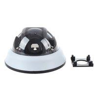 plastik kubbeler toptan satış-2 Paketleri Açık CCTV Kamera Siyah Beyaz Plastik Kabuk Yuvarlak Dome Konut