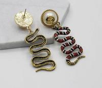 ingrosso orecchini del serpente dell'oro dell'annata-2018 vendita calda marca vintage serpente orecchini per le donne gioielli moda oro orecchino cerchio anello ciondolo spedizione gratuita