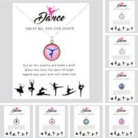 bailarinos de balé venda por atacado-Viver Amor Dança Ballet Dancer Dança Ginástica Meninas Pingentes Colares Unicorn Horse 18mm Cabochon De Vidro Mulheres Jóias Presente
