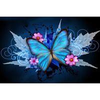 Wholesale Beauty Craft - beauty butterfly Full Drill DIY Mosaic Needlework Diamond Painting Embroidery Cross Stitch Craft Kit Wall Home Hanging Decor