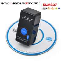 Wholesale elm327 switch - SMARTECH OBD 2 Device ver 2.1 ELM327 Bluetooth Auto Diagnostic Tool Scanner with Power Switch GPS