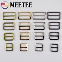 Wholesale tri glides - Meetee 2cm,2.5cm,3.2cm,3.7cm Webbing Straps Metal Tri Glide Adjust Buckle Ring Buckles for Bag Belt Bag Parts F4-4