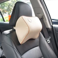 office travel pillow Canada - Car Neck Pillow Memory Foam Soft Head Cushion For Office Travel Dark Beige Travel Pillows FFA212