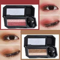sombras de olhos minerais venda por atacado-Dupla cor Glitter Eyeshadow Palette Nova UBUB Eye Shadow Marca Nude Eye Pignment 5 Cores Maquiagem Pó Mineral À Prova D 'Água