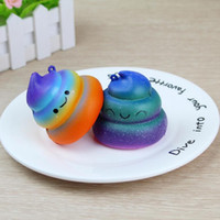 Wholesale Gifts For Fun - Squishy Poops Galaxy Squishy Toys New Jumbo Kawaii Poop Cartoon Squishy Emoji Toys slow rising squishies Gift for Kids Fun Toy