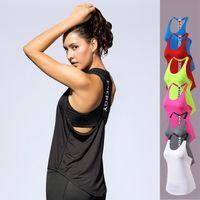 tanque de racerback de ioga venda por atacado-New Women Activewear Correndo Workouts Roupas Yoga Racerback Regatas para Senhoras Meninas DK7718KSG
