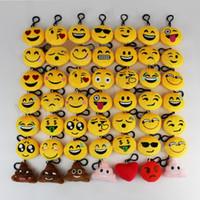 zincir yüzlü oyuncak toptan satış-Emoji Peluş Anahtarlık Oyuncaklar bebek Sarı Emoji Emotion Anahtarlık yüz Ifade Anahtarlık Halka Çanta Kolye Noel süslemeleri Promosyon Hediyeler