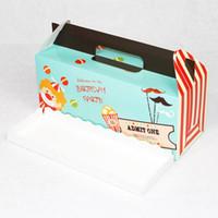 paquete caliente portátil al por mayor-Cajas de pastel 3 Lattice Portable Pink Blue Paper Cup Roll Hornada Multicolor Fiesta festiva Suministros Embalaje Envoltura de regalo Venta caliente 0 58yd V