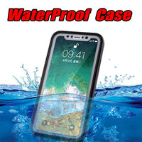 Wholesale waterproof iphone 5 case for sale - Ultra Thin Waterproof Cases Full Body Cover For iphone X Soft TPU Diving Swimming Cases for iPhone s Plus S
