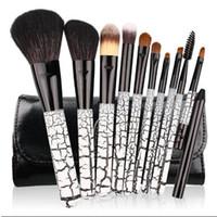 Wholesale Hair Stones - 3 Colors 10pcs set Professional Makeup Brushes Tools Stone Pattern Cosmetic Brush Eyeshadow Lip Face Powder Brush Sets CCA9060 30set