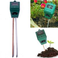 Wholesale plant moisture tester - 3 in 1 Flowers Soil PH Tester Illuminance humidity Analyzer Moisture Light Meter Plant Tool with 2 Probes GGA224 30PCS