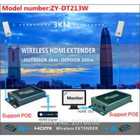 drahtloses hdmi audio großhandel-200m Wireless Video Audio Übertragung Wireless HDMI Sender Empfänger 1080P WIFI HDMI Extender Kit Outdoor 3km