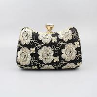 Wholesale western style clutches resale online - Fashion Women Evening Bags Retro Cheongsam Handbag Western Style Women Elegant Clutch Gorgeous Bridal Wedding Party Bag