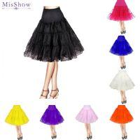 Wholesale orange petticoat for sale - Group buy Women s s Vintage Rockabilly Petticoat quot Length Colorful Underskirt A Line Tulle Party Petticoat For Short Party Tutu Dresses CPA423