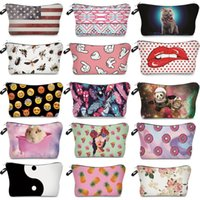 Wholesale multi function lips resale online - 74 Designer Toiletry Bag Multi function Makeup Bags For Lip Emoji Letter Skull Printed Cosmetic Bags Grocery Storage Bags Xmas HH7