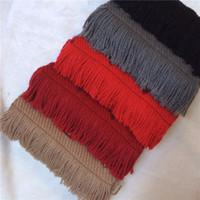 ingrosso sciarpa invernale unisex-2018 Inverno LOGOMANIA SHINE Marchio di lusso sciarpa donne e uomini due lati nero rosso seta coperta di lana sciarpe Fashion Designer fiore sciarpe