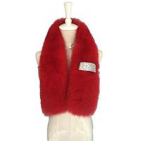 кольца кожи оптовых-Autumn Winter Women's Genuine Whole Skin  Fur Neck Rings Muffler Lady Warm Scarf Handmade Neck Warmers VF5025