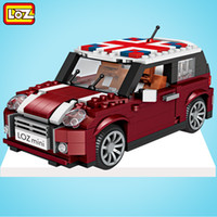 Wholesale home intelligence - LOZ Mini Car Model Building Blocks Children DIY Intelligence Toys Birthday Gift ABS Home Decoration Hot Sale 30mh WW
