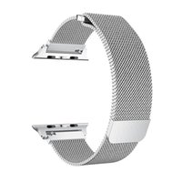 Wholesale buckles connectors - Epacket UP 1PCS Band Strap 38MM 42MM Milanese Loop Magnetic Stainless Steel Watchband With Adapter Connector For Apple Watch Series 1 2 3