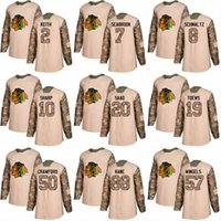 blackhawks purple jersey Canada - 2018 Camo Veterans Day 20 Saad 10 Patrick Sharp 88 Patrick Kane 2 Duncan Keith 7 Brent Seabrook Chicago Blackhawks Custom Hockey Jerseys
