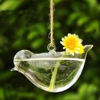 ingrosso decorazione del vaso del fiore del giardino-2017 nuovo chiaro uccello vaso di vetro bottiglia terrario idroponica contenitore vaso di fiori fai da te tavolo da sposa decorazione del giardino